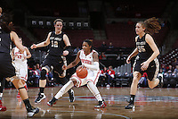 Ohio State Buckeyes guard Raven Ferguson (31) is guarded by Army Black Knights forward Olivia Schretzman (12) during the first half of Friday's NCAA Division I basketball game at Value City Arena in Columbus on December 13, 2013. (Barbara J. Perenic/The Columbus Dispatch)