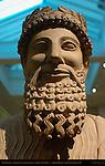 Bearded Man with Laurel Wreath, Sanctuary of Apollo (Idalion), Cyprus 450-425 BC, Limestone, British Museum, London, England, UK