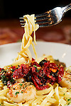 Food photography of pasta at Mermaids in Fayetteville, Arkansas.