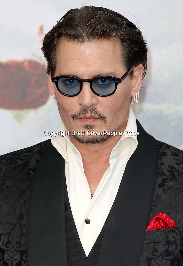 Johnny Depp, Alice Through The Looking Glass - European Premiere, Odeon Leicester Square, London UK, 10 May 2016, Photo by Brett D. Cove