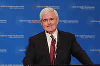 ATLANTA, GA - March 25, 2010: Newt Gingrich's press conference at the St. Regis hotel in the Buckhead community of <br />