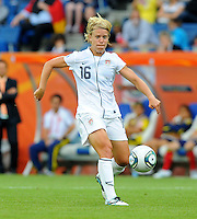 Lori Lindsey of team USA during the FIFA Women's World Cup at the FIFA Stadium in Sinsheim, Germany on July 2nd, 2011.