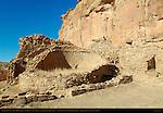 Talus Unit Kiva C2 and Western Room Complex, Chetro Ketl Chacoan Great House, Anasazi Hisatsinom Ancestral Pueblo Site, Chaco Culture National Historical Park, Chaco Canyon, Nageezi, New Mexico