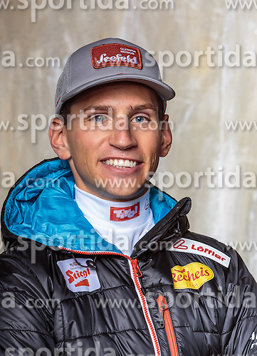 08.10.2016, Olympia Eisstadion, Innsbruck, AUT, OeSV Einkleidung Winterkollektion, Portraits 2016, im Bild David Pommer, Nordische Kombination, Herren // during the Outfitting of the Ski Austria Winter Collection and official Portrait Photoshooting at the Olympia Eisstadion in Innsbruck, Austria on 2016/10/08. EXPA Pictures © 2016, PhotoCredit: EXPA/ JFK