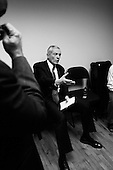 Greenville, South Carolina.USA.January 29, 2004..General Wesely Clark in an holding room before a national debate.
