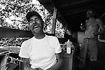 Jim Terece, Roy Baker's close friend who leases land from him down the hill, laughs while enjoying beer and good company on a humid August afternoon. The retired painter spends his days living in a trailer in shadow of trees and the mountain of shale, at the end of an unpaved gravel road.