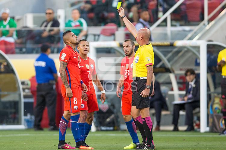 Santa Clara, California - Saturday, June 18, 2016: Chile defeated Mexico 7-0 in Copa America Centenario at Levi's Stadium.