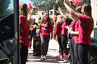 Stanford Basketball W 2017 Final Four Arrival, March 28, 2017