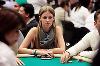 28 February 2009: Celebrity Nicky Hilton with chips on table betting during the 7th Annual WPT World Poker Tour Invitational at the Commerce Casino in Los Angeles, CA. Players compete for poker glory and a  piece of the $200,000 prize pool. Celebrity and Pro card players in action.