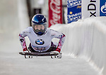 8 January 2016: Takako Oguchi, competing for Japan, completes her second run of the BMW IBSF World Cup Skeleton race with a combined 2-run time of 1:52.38, earning a 13th place finish for the day at the Olympic Sports Track in Lake Placid, New York, USA. Mandatory Credit: Ed Wolfstein Photo *** RAW (NEF) Image File Available ***