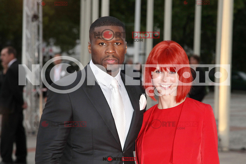 "August 30, 2012: 50 Cent aka Curtis James Jackson and Miss IFA attend the ""IFA Opening Gala"" at the Palais am Funkturm. in Berlin, Germany. ..Credit: © AFG / MediaPunch Inc."