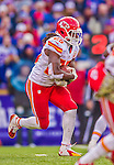 9 November 2014: Kansas City Chiefs running back Jamaal Charles rushes for yardage in the fourth quarter against the Buffalo Bills at Ralph Wilson Stadium in Orchard Park, NY. The Chiefs rallied with two fourth quarter touchdowns to defeat the Bills 17-13. Mandatory Credit: Ed Wolfstein Photo *** RAW (NEF) Image File Available ***