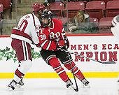 Brayden Jaw (Harvard - 10), Alex Rodriguez (RPI - 39) - The Harvard University Crimson defeated the visiting Rensselaer Polytechnic Institute Engineers 5-2 in game 1 of their ECAC quarterfinal series on Friday, March 11, 2016, at Bright-Landry Hockey Center in Boston, Massachusetts.