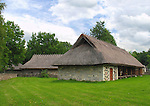Old Building with Thatch Roof in Rocca Al Mare Museum, Tallinn, Estonia
