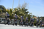 Team Sunweb practice before the 1st stage of the race of the two seas, 52nd Tirreno-Adriatico by NamedSport a 22.7km Team Time Trial at Lido di Camaiore, Italy. 8th March 2017.<br /> Picture: La Presse/Fabio Ferrari | Cyclefile<br /> <br /> <br /> All photos usage must carry mandatory copyright credit (&copy; Cyclefile | La Presse)