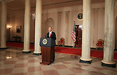 United States President Barack Obama makes a statement about the decision of President Hosni Mubarak of Egypt not to seek another term as Egyptian President, at the White House on Thursday, February 1, 2011 in Washington, DC. Earlier today the embattled Mubarak announced that he would not seek reelection after one million people rallied across Egypt calling for Mubarak to give up power. .Credit: Mark Wilson / Pool via CNP