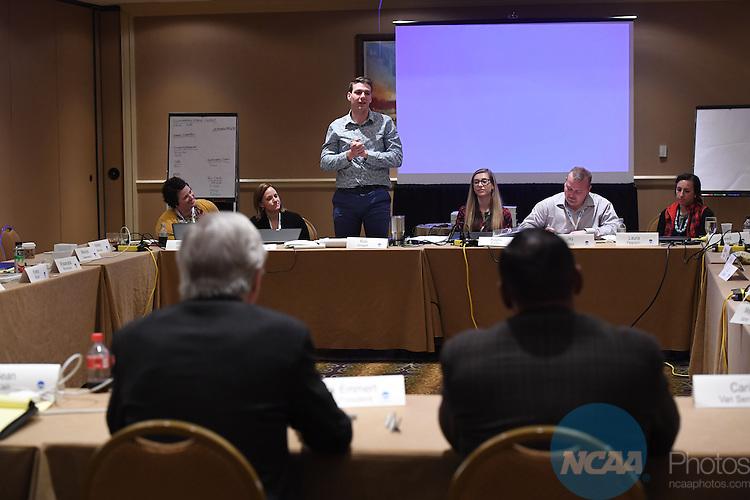 17 JAN 2017:  The NCAA Division III SAAC meeting takes place during the 2017 NCAA Convention takes place at the Gaylord Opryland Resort & Convention Center in Nashville, TN. Justin Tafoya/NCAA Photos (Pictured: Rob Wingert)