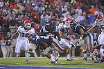 Ole Miss running back Enrique Davis (27) scores a touchdown in the first quarter against Fresno State at Vaught-Hemingway Stadium in Oxford, Miss. on Saturday, September 25, 2010. Ole Miss won 55-38.