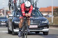 7th place GC: Edward Theuns (BEL/Trek-Segafredo)<br /> <br /> 3 Days of De Panne 2017<br /> afternoon stage 3b: ITT De Panne-De Panne (14,2km)