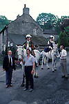 Castleton Garland day, Castleton Derbyshire UK May 31st. Oak Apple Day King and Queen.