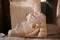 Funerary statue depicting a reclining man holding a cup, Valley of Tombs, late 3rd century AD, Palmyra, Syria Picture by Manuel Cohen