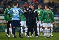 Fussball 1. Bundesliga :  Saison   2012/2013   9. Spieltag  27.10.2012 SpVgg Greuther Fuerth - SV Werder Bremen Max Gruen und Trainer Mike Bueskens (v. li., Greuther Fuerth)