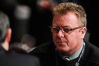 New England Revolution head coach Steve Nicol during the MLS SuperDraft at the Pennsylvania Convention Center in Philadelphia, PA, on January 14, 2010.
