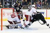 Ilya Bryzgalov (Phoenix Coyotes, #30) blocks the puck in front of his goal during ice-hockey match between Los Angeles Kings and Phoenix Coyotes in NHL league, March 3, 2011 at Staples Center, Los Angeles, USA. (Photo By Matic Klansek Velej / Sportida.com)