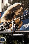 Ted Nugent billboard installation on the Sunset Strip circa 1978