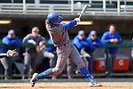 CARY, NC - MARCH 04: UMass Lowell's Chris Sharpe. The University of Massachusetts Lowell River Hawks played the University of Notre Dame Fighting Irish on March 4, 2017, at USA Baseball NTC Stadium Field in Cary, NC in a Division I College Baseball game, and part of the Irish Classic tournament. UMass Lowell won the game 8-0.