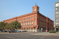 The Rotes Rathaus or Red City Hall, seat of the mayor and senate of the state of Berlin, Mitte, Berlin, Germany. The Rathaus was built 1861-69 by Hermann Friedrich Waesemann in Italian Renaissance style. Picture by Manuel Cohen