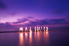 Water, light painting, Maldives, Kuramathi Islands, sunset, sandbank