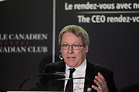 Alain Brunet, President and Chief Executive Officer of SAQ deliver a speech to the Canadian Club of Montreal, Monday, March 20, 2017<br /> <br /> <br /> PHOTO : Agence Quebec Presse