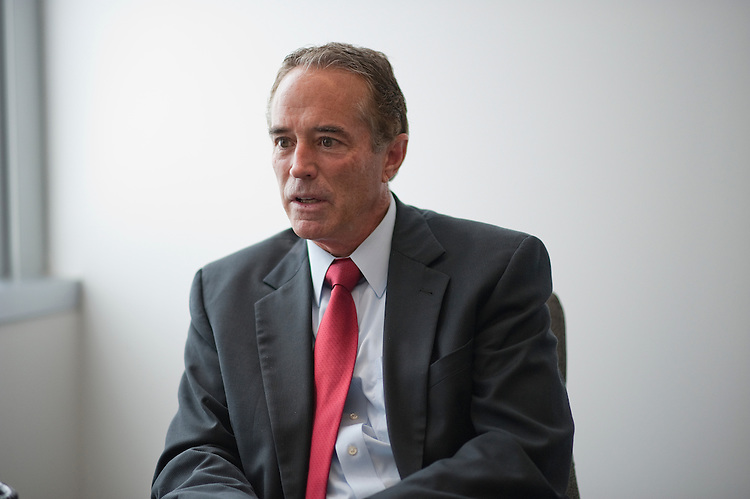 UNITED STATES - July 31: Chris Collins (R) New York is interviewed at Roll Call in Washington, D.C.  (Photo By Douglas Graham/CQ Roll Call)