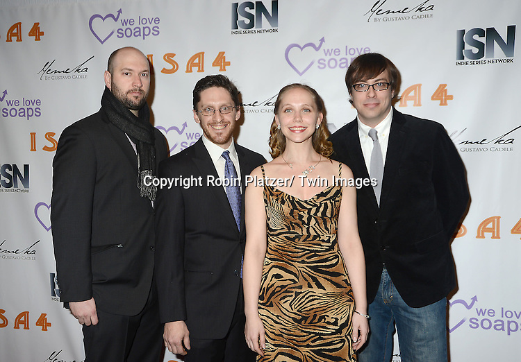 cast of  of Intersection attends the  4th Annual Indie Soap Awards  on Tuesday, February 19th at The New World Stages in New York City. .