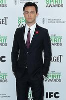 SANTA MONICA, CA, USA - MARCH 01: Joseph Gordon-Levitt at the 2014 Film Independent Spirit Awards held at Santa Monica Beach on March 1, 2014 in Santa Monica, California, United States. (Photo by Xavier Collin/Celebrity Monitor)