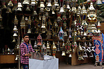 """An Egyptian vendor displays Traditional  Lanterns known as """"Fanous"""" in Arabic at a market ahead of the Muslim holy month of Ramadan in Cairo, Egypt, on May 21, 2017. Photo by Amr Sayed"""