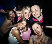 WARSAW, POLAND, JANUARY 2013:<br /> Performers of  AFTER PARTY band that plays disco polo music is posing with his fans at the Eden club in Trojany near Warsaw. Disco polo is a type of dance music which originated in rural areas of Poland.<br /> Though considered tacky by many people, it is becoming incredibly popular<br /> (Photo by Piotr Malecki / Napo Images)<br /> <br /> Trojany k/Warszawy, styczen 2013:<br /> Czlonkowie zespolu &quot;After Party&quot; z fanami. Klub Eden w Trojanach k/W-wy<br /> Fot: Piotr Malecki / Napo Images