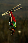 16 January 2005 - Lake Placid, New York, USA - Melissa Prefontaine representing Canada, competes in the FIS World Cup Ladies' Aerial acrobatic competition, ranking 9th for the day at the MacKenzie-Intervale Ski Jumping Complex, in Lake Placid, NY. ..Mandatory Credit: Ed Wolfstein Photo.