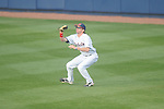 Ole Miss' Will Jamison (4) makes a catch vs. Arkansas-Pine Bluff at Oxford-University Stadium in Oxford, Miss. on Wednesday, February 27, 2013.