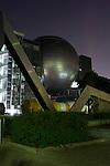 Photo shows the giant dome of the planetarium which hangs above the entrance to the metropolitan science museum in Nagoya, Aichi Prefecture, Japan on 13 Oct. 2011. Photograph: Robert Gilhooly