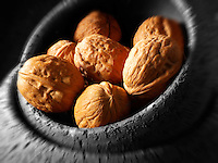 Whole Walnuts stock photos