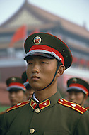 Beijing, China. October 1st, 1984. This huge parade is for the celebration of the 35th Anniversary of the Chinesse Revolution. Beautiful and solemn, the Red Guard were at their best.