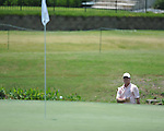 Scott Verplank hits onto the 18th green at the PGA FedEx St. Jude Classic at TPC Southwind in Memphis, Tenn. on Thursday, June 9, 2011.