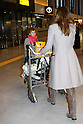 Narita, Japan - April 14th 2012 : Actress Jessica Alba arrives at Narita Airport in Japan with her daughters Haven Garner Warren and Honor Marie Warren and her partner Cash Warren.