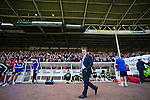 Nottingham Forest 1 Birmingham City 0, 19/04/2014. City Ground, Championship. Troubled Birmingham City manager Lee Clark makes his way to the dugout ahead of the Championship fixture between Nottingham Forest and Birmingham City from the City Ground. Nottingham Forest won the game 1-0.  Photo by Simon Gill.
