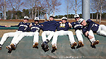CARY, NC - MARCH 05: Notre Dame players relax on the tarp before the game. The Monmouth University Hawks played the University of Notre Dame Fighting Irish on March 5, 2017, at USA Baseball NTC Field 2 in Cary, NC in a Division I College Baseball game, and part of the Irish Classic tournament. Notre Dame won the game 4-0.