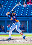 1 March 2017: Houston Astros outfielder Teoscar Hernandez in Spring Training action against the Miami Marlins at the Ballpark of the Palm Beaches in West Palm Beach, Florida. The Marlins defeated the Astros 9-5 in Grapefruit League play. Mandatory Credit: Ed Wolfstein Photo *** RAW (NEF) Image File Available ***
