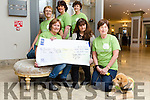 The Kerry Five local Women's group who walked the Camino de Santiago and raised €16,000 Irish Guide Dogs. Pictured Ann O'Riordan presented cheque to Ann Burns, Irish Guide Dogs,  Margaret O'Shea with Marcell. Back l-r Sheila Brosnan, Joan Hill, Josephine Flood