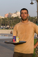 Tripoli, Libya, North Africa - Soft-Drink Vendor, Friday Afternoon in the Public Park, near the Green Square.